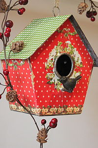 Christmas Decorative Bird Box