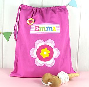 Girl's Personalised Storage Bags - children's accessories