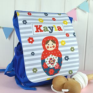 Girl's Personalised Doll Mini Ruck Sack