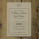 Heart and Arrow Kraft Wedding Invitation