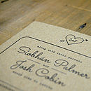 Heart and Arrow Kraft Wedding Invitation Detail