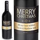 Merry Christmas Personalised Wine