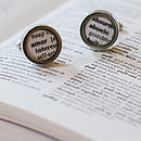 Spanish Dictionary Definition Cufflinks