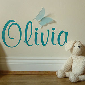 Acrylic Butterfly Personalised Wall Sticker - children's decorative accessories