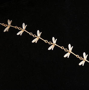 Gold And Silver Dragonfly Bracelet