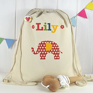 Girl's Personalised Elephant Kit Bag - baby & child