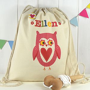 Girl's Personalised Owl Kit Bag - laundry room