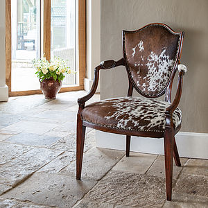 Pair Of Antique Cowhide Chairs - furniture