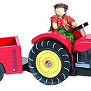 Large Wooden Play Tractor