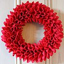 Red Christmas Felt Wreath