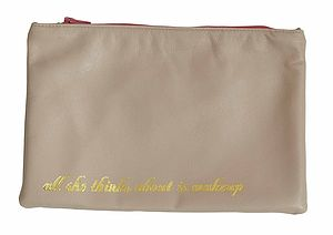 'Makeup' Leather Cosmetic Bag - bags & purses