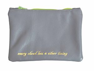 'Every Cloud' Leather Pouch