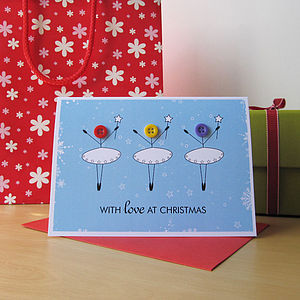 Button Fairy Christmas Card - view all sale items