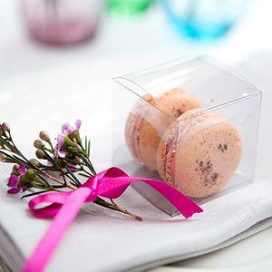 10 Macaron Wedding Favours - edible favours