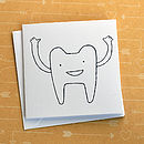 Tooth Screenprinted Card