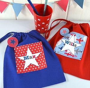 Boy's Personalised Bright Star Party Bags