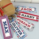Boys Personalised Gift Tags Set Of 10