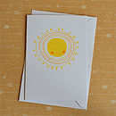 Hello Sunshine Screenprinted Card