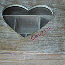 Personalised Wooden Keepsake Jewellery Box