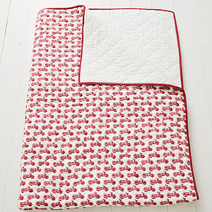 Red Scooter Quilt For Kids