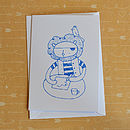 Pirate Lion Screenprinted Card