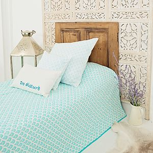 Block Printed Quilt - soft furnishings & accessories