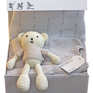 New Baby Girl's Cardigan And Teddy Gift Set - clothing