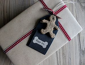 Dog Biscuit Gift Tag - dogs