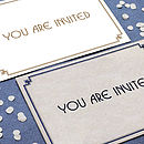 25 Deco Wedding Invitations