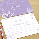 Lavender Summer Fete wedding invitation