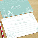Turquoise Summer Fete wedding invitation
