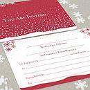 Winter's Tale red wedding invitation