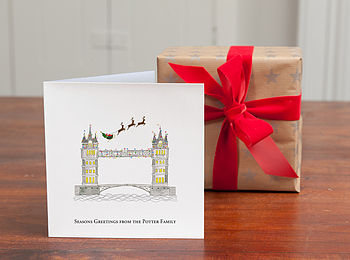 Personalised 'Tower Bridge Christmas Cards'