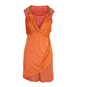 Ambor Orange Dress