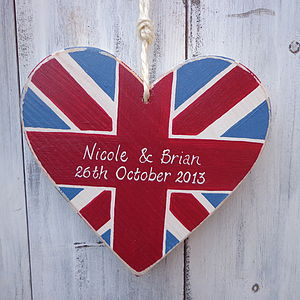 Union Jack Wedding Heart