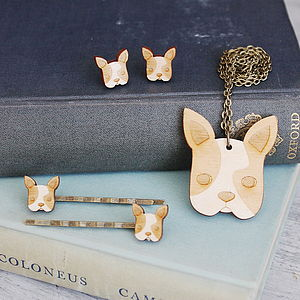 Wooden French Bulldog Jewellery Gift Set - children's accessories