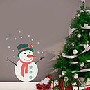 Christmas Snowman Wall Sticker