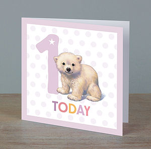 Girl Ages One To Five Birthday Cards - special age birthday cards