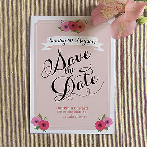 Sophia Save The Date Card