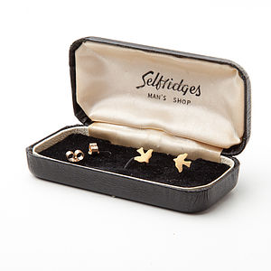 Gold Tiny Bird Stud Earrings