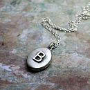 Personalised Initial Satin Locket