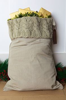 Personalised Cable Knit Santa Sack