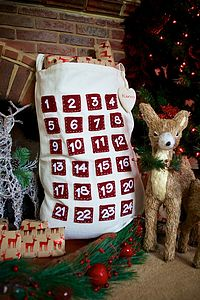 Two In One Pocket Advent Calendar And Santa Sack - stockings & sacks