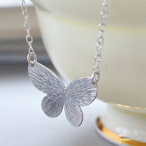 Butterfly Necklace Sterling Silver - necklaces & pendants