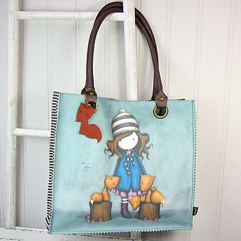 Gorjuss The Foxes Large Shopper Bag