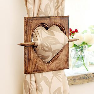 Country Heart Curtain Tie - curtains