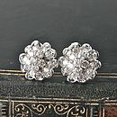 Crystal Encrusted Flower Earrings