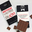 Birthday Chocolate Bar: Calories Don't Count