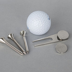 Silver Engraved Golf Set - home