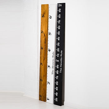 Personalised Ruler Height Chart